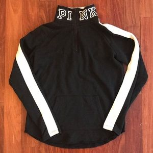 Black/white VS PINK 1/4 zip